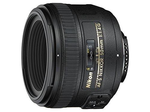 Nikon AF-S NIKKOR 50mm f 1.4G Obiettivo, Nero [Nital Card: 4 Anni di Garanzia]