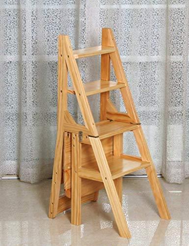 HLL Hocker, Stilvolle Einfachheit Multifunktionale Schritt Hocker Massivholz Dualuse Treppen Stuhl Leiter Klappstuhl Startseite 4-Layer-Multifunktions Leiter Stufen Trittschemel,D