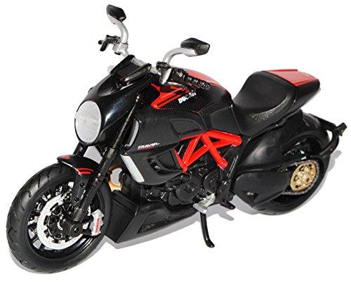 Maisto Ducati Diavel Carbon Schwarz 1/12 Modell Motorrad mit individiuellem Wunschkennzeichen