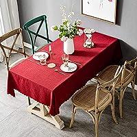 Xihouxian 北欧風の赤のシンプルで小さな新鮮な百テーブルクロス、綿麻生地ピュアカラーラウンドスクエアテーブルクロス、テーブルのリビングルームの寝室の結婚式などに使用されます。 X13 (Size : 135*180cm)