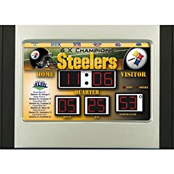 Team Sports America 6.5x9 Scoreboard Desk Clock - Pittsburgh Steelers