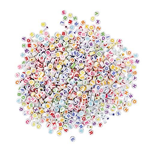 Juego de 1200 cuentas para manualidades y aprendizaje de niños, en inglés a través de juegos para padres e hijos