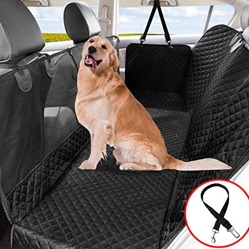Vailge Dog Car Seat Covers Back 100% Waterproof Car Seat Covers, Back Seat Cover for Dogs with Mesh Window, Scratch Prevent Antislip Dog Car Seat Cover, Dog Car Hammock with Side Flaps for Cars