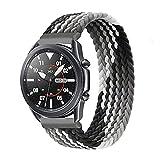 Apbands Solo Loop Trenzada 20 mm compatible con Samsung Galaxy Watch 3 41 mm/Galaxy Watch 42 mm/Active 2/Active/Gear S2 Classic/Gear Sport Nylon elástico tela silicona correa deportiva 20 mm
