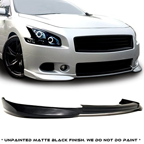 2010 2011 2012 2013 Rear Bumper Lip Diffuser Compatible With 2009-2015 For Nissan Maxima ST Style Black PU Add on Aftermarket Replacement Parts Rear Splitter by IKON MOTORSPORTS