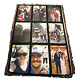 VictoryStore Blanket - Custom Wedding Photo Woven Blanket, Full Color Print - 35 inches x 54 inches Woven Photo Throw Blanket Full Size Custom Photo Gift Blanket (9 Photos)