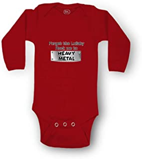 Forget The Lullaby Rock Me to Heavy Metal Long Sleeve Cotton Baby Bodysuit