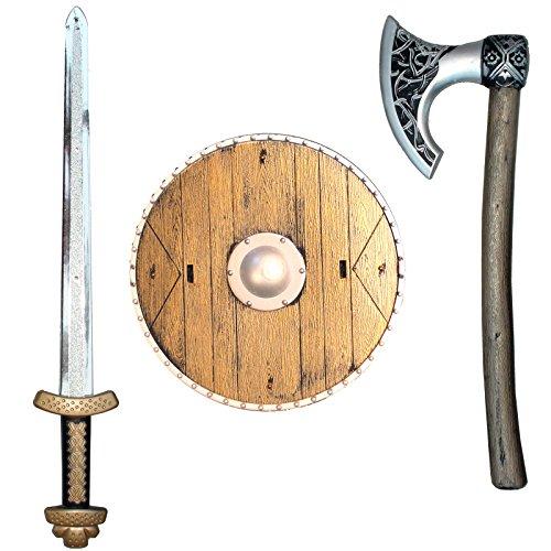 Wikingerset Kinder Schwert Schild Axt Wikinger Wikingerschwert Vikinger Wikingeraxt