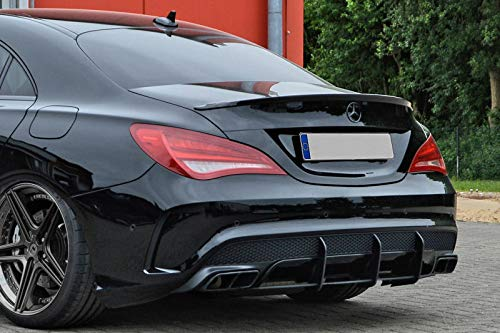 Performance Rear Bumper diffuser addon with ribs fins For MB CLA 45 AMG 2012-2015