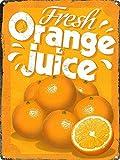 DGBELL Fresh Orange Juice Cartel de Pared de Chapa Decoración de Arte de Pared Placa de Metal Vintage Cartel Retro Hombre Cueva Patio Teatro Regalo