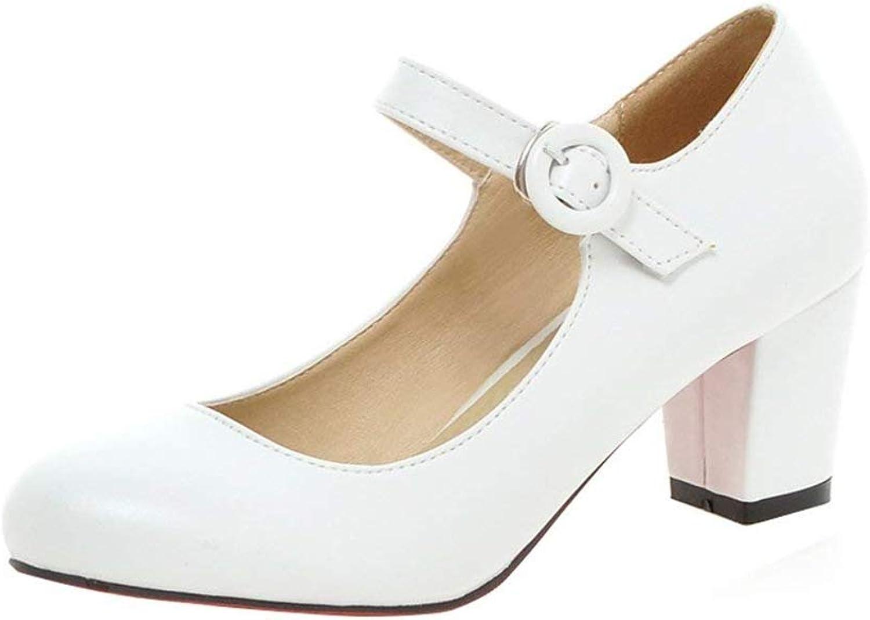 Women's Close Toe Dress Platform Pump Professional Ladies Stiletto Heel