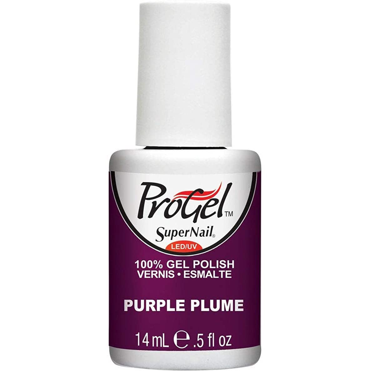 美的入札お金SuperNail ProGel Gel Polish - Purple Plume - 0.5oz / 14ml
