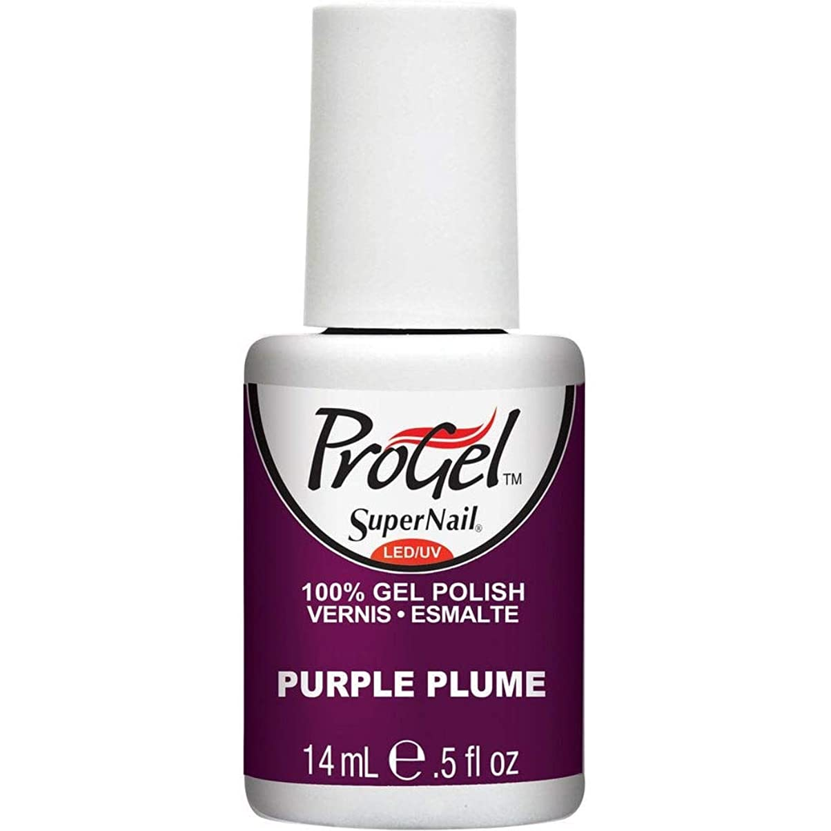 ベアリング香ばしい対抗SuperNail ProGel Gel Polish - Purple Plume - 0.5oz / 14ml