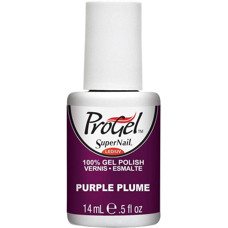 急勾配のおっと鉛SuperNail ProGel Gel Polish - Purple Plume - 0.5oz / 14ml
