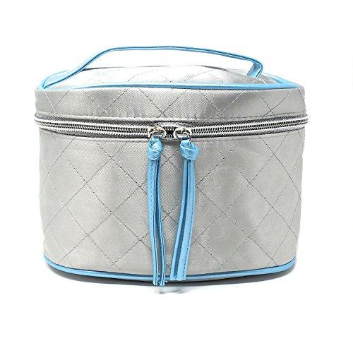 Avon Silver & Blue Polysatin Vanity Bag