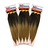 REALISTIC - Multi Pack Deals! Pre-stretched X-Pression 3X Ghana Braids unfolded...