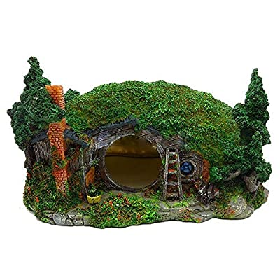 YGZJ Aquarium Decor Ornaments, Reptile Box Shelter, Hillside House Manor Hobbit Miniature Landscape Decor by YGZJ