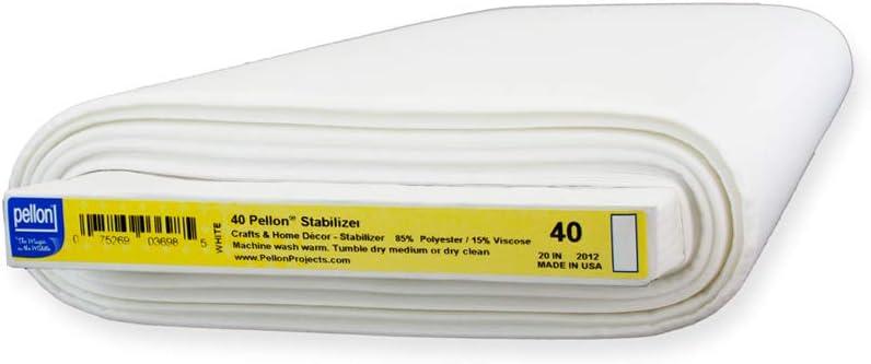 half Pellon 40 Sew-In Midweight Stabilizer yd Bolt 10 x 20