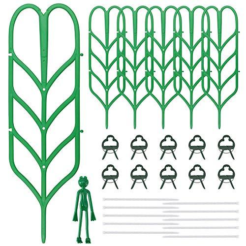 KKTICK - Supporto per piante rampicanti, 6 pezzi, in plastica, per agricoltura, giardino, supporto per piante in vaso, rampicanti, ortaggi, edera, rosa, cetrioli, fiori