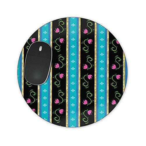 Ice Princess Anna Jurk Mousepad - Neopreen voor Optische & Laser Muis - Rechthoek Rond Hart Vorm Round Mousepad Zwart