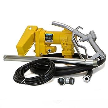 Stark 12V Gasoline 20GPM Transfer Fuel Pump Self-Priming Kerosene Extractor Pump DC High Flow w/Nozzle and Hose Kit