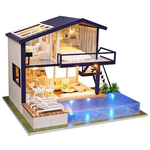 Sutinna Kit De Casa De Muñecas En Miniatura para Bricolaje, Montaje En...