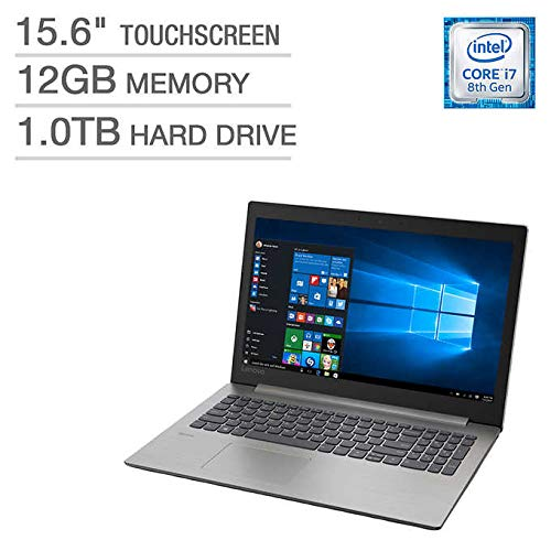 Lenovo Ideapad 330 15.6' HD Touchscreen Laptop i7-8550U Processor at 1.8GHz,12GB DDR4 RAM,1TB 5400RPM SATA Hard Drive,Intel Integrated 620 Graphics,DolbyAudio,DVD-RW,HDMI,Intel Wireless-AC WLAN