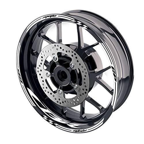 MC MOTOPARTS - Adhesivos para llanta de rueda (17', GP02 para CBR1000RR CBR600RR CBR 650F 600F 17 18 19 20, color blanco
