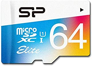 Silicon Power 64GB MicroSDXC UHS-1 Class10, Elite Flash Memory Card with Adapter (SP064GBSTXBU1V20SP)