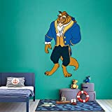 Prince Adam Beast Beauty and The Beast Cartoon Decors Wall Sticker Art Design Decal for Girls Boys Kids Room Bedroom Nursery Kindergarten Home Decor Stickers Wall Art Vinyl Decoration (30x27 inch)