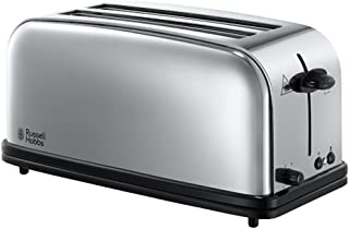 Russell Hobbs Toaster Grille Pain 1600W, 2 Longues Fentes, Chauffe Viennoiserie - 23520-56 Victory