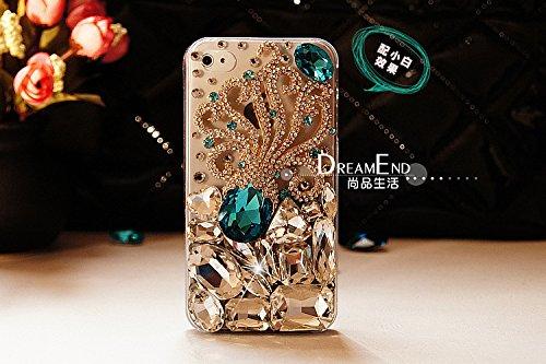 iPhone 5/5s Custodia, iNenk Case Cover Nuova Lega Octopus Scintillio Diamanti Pasta Telefono Shell Manicotto Protettivo Blu Gem Pearl Dura PC Moda per Le Donne-Blu
