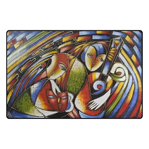 FANTAZIO - Accessoire de Tapis pour Coins et Bords - Anti-bouclage - Idéal pour Bloquer Les Tapis - 78,7 x 50,8 cm - 152 x 99,1 cm, Polyester, 1, 60 x 39 inch