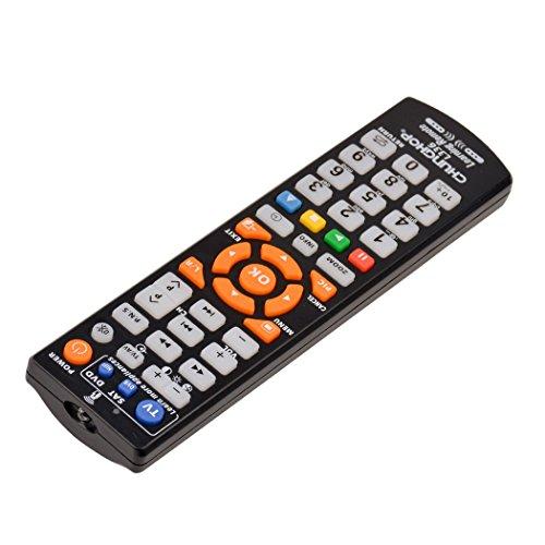 『(inkint)マルチAVリモコン ユニバーサル英語TVスマートIRリモコン 学習機能 ABS素材 ブラック』の2枚目の画像