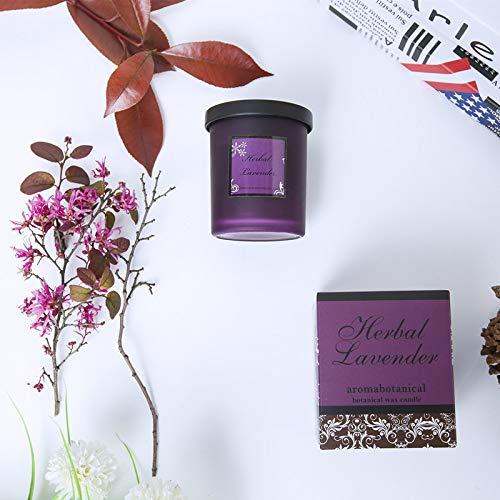Geurkaars Lavendelglas Rookloze geschenkdoos Etherische olie Geurkaars Natuurlijke pure sojawas Geur Geurkaars Roos