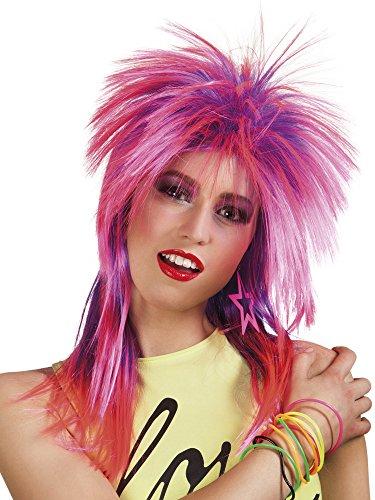 80s Mullet Wig Pink Rockerin