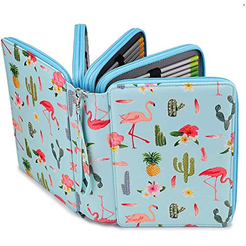 Colored Pencil Case,Multi-Layer Pen Holder Large Capacity Pouch Holder Stationery Organizer for Art Student Color Pens Markers or Gel Pens Fineliner Storage (C)