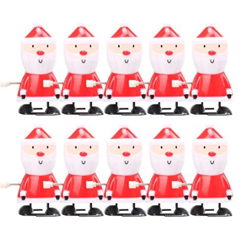 Amosfun Weihnachten 10pcs Wickeln Oben Spielwaren Weihnachtsmann Wickeln Oben Strumpf Stuffers Weihnachtsfestbevorzugungen für Kinder EIN