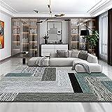 Kunsen Camas Dobles Salones Dormitorio Sala de Estar Alfombra Gris Verde Pelo Corto sin Pelo rectángulo Alfombra Bebe 80X120CM 2ft 7.5' X3ft 11.2'