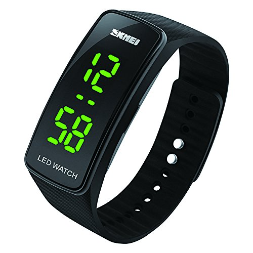 Kids Digital Sports Watch for Boys Girls - Kid Waterproof Analogue Watches with Chronograph, Childrens Outdoor Electronic Wristwatch with LED Backlight for Teenagers - Black
