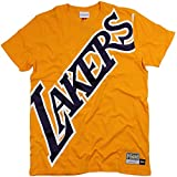 Mitchell & Ness Big Face Lakers Camiseta Gold