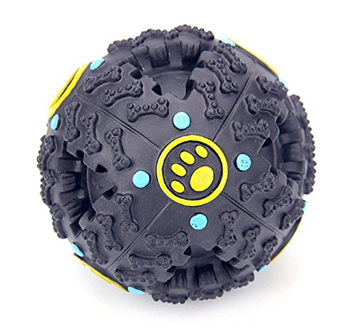 YAAGLE Pet Bite Chew Squeak IQ Training Ball Toys With Sound For Dog Puppy Cat