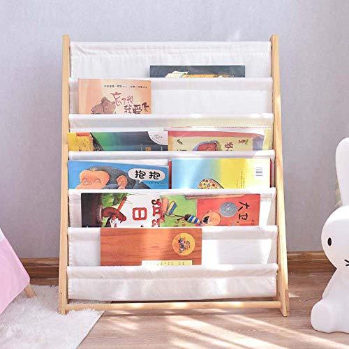 AUED Kinder-Bücherregal Speicherwürfel, Kinder aus Holz Buchzahnstangen-Speicher Bücherregal Tägliche Aktivität Closet Organizer, für Heim Schlafzimmer Weiß