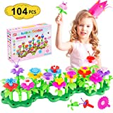 themoemoe Toys for 3-6 Year Old Girls Flower Garden Building Toys, Educational Outdoor Toys for Toddlers Age 3-6 Playset STEM Toy Crafts