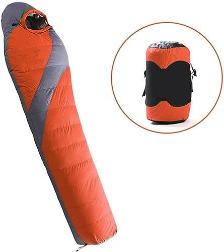 DZW Down Sleeping Sleeve extérieur ultra léger canards hiver plus épaisse sac de couchage Camping