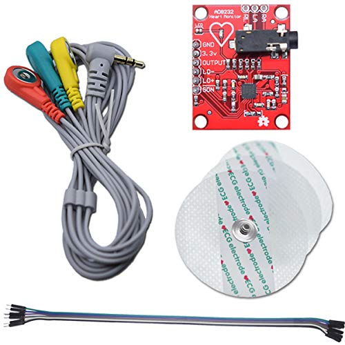 Youmile ECG Module AD8232 ECG Measurement Pulse Heart Rate Sensor Module Kit ECG Monitoring Sensor for Arduino with Dupont Cable