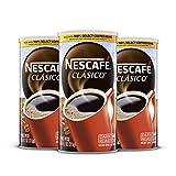 ネスカフェクラシコ、ダークローストインスタントコーヒー、11.1オンス。 再封可能なキャニスター、3パック(合計480カップ)