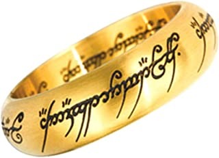 Official The One Ring - Gold Replica Ring in Display Case - Size 10