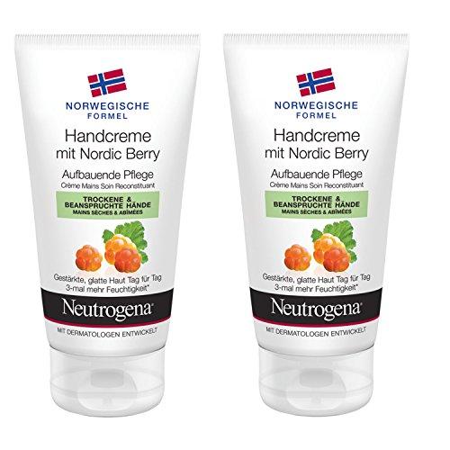 Neutrogena NORVEGE FORMULE CRÈME POUR LES MAINS AVEC Nordic Berry, 2 x 75ml