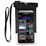 Premium Waterproof Dry Bag Pouch Armband Case for iPhone X/iPhone 8 Plus/Samsung Galaxy Note 8 / S8 Active / J7 Pro/Motorola Moto G5s Play / Z2 Play/HTC U Ultra/HTC U11 (Black)